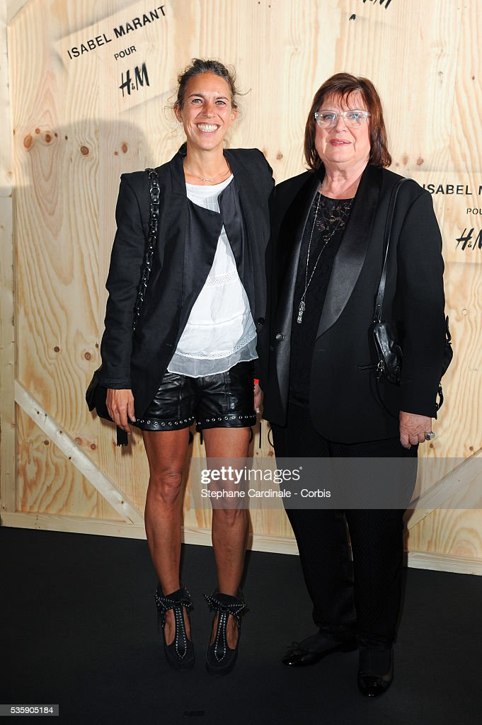 Fashion designer Isabel Marant and H&M Creative advisor Margareta Van Den Bosch attend the 'Isabel Marant For H&M' Photocall at Tennis Club De Paris, in Paris.