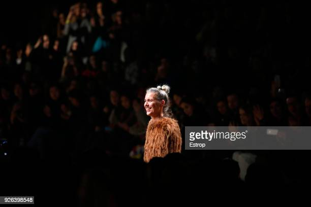 Fashion designer Isabel Marant during the Isabel Marant show as part of the Paris Fashion Week Womenswear Fall/Winter 2018/2019 on February 28 2018...