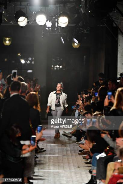 Fashion designer Isabel Marant walks the runway during the Isabel Marant Ready to Wear Spring/Summer 2020 fashion show as part of Paris Fashion Week...