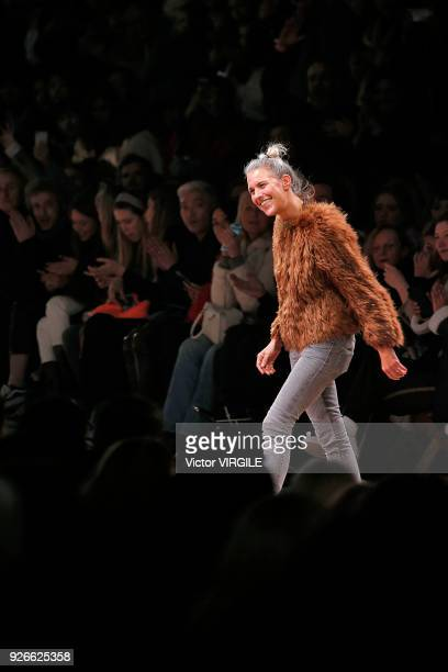 Fashion designer Isabel Marant walks the runway during the Isabel Marant Ready to Wear Fall/Winter 2018-2019 fashion show as part of the Paris...