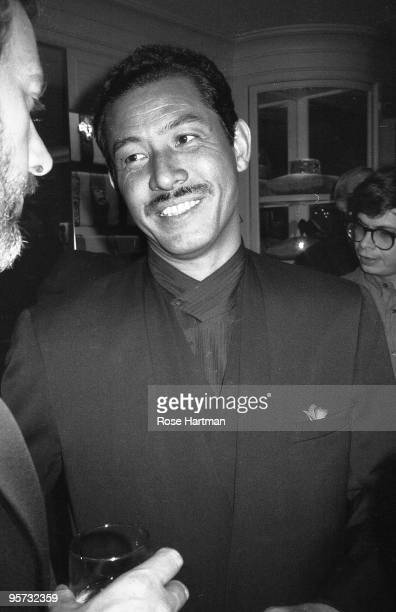 Fashion designer Issey Miyake at a preview at Christie's in 1983 in New York City, New York.