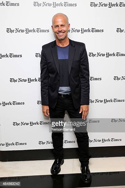 Fashion designer Italo Zucchelli attends the New York Times Vanessa Friedman and Alexandra Jacobs welcome party on September 3 2014 in New York City