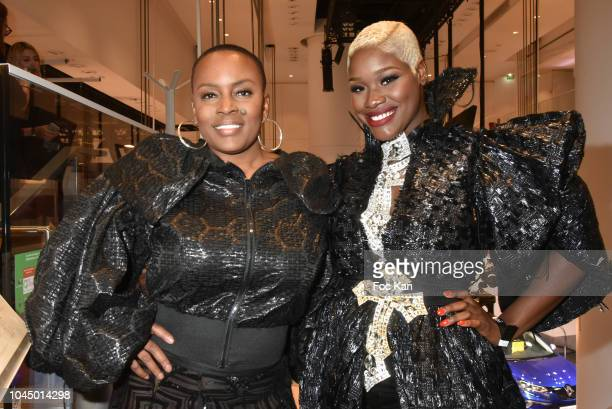Fashion designer Jacinta Ligon and model Olympia Hodge attend the Christophe Guillarme show as part of the Paris Fashion Week Womenswear...