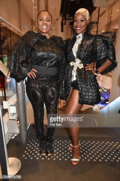 Fashion designer Jacinta Ligon and Olympia Hodge attend the Christophe Guillarme show as part of the Paris Fashion Week Womenswear Spring/Summer 2019...
