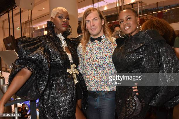 Fashion designer Jacinta Ligon, Christophe Guillarme and Olympia Hodge attend the Christophe Guillarme show as part of the Paris Fashion Week...