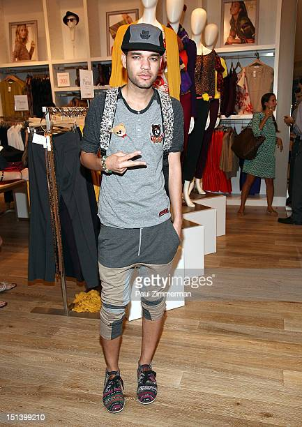 Fashion designer Jason Christopher Peters attends Fashion's Night Out at the LOFT store 1230 Avenue of the Americas at 49th Street on September 6...