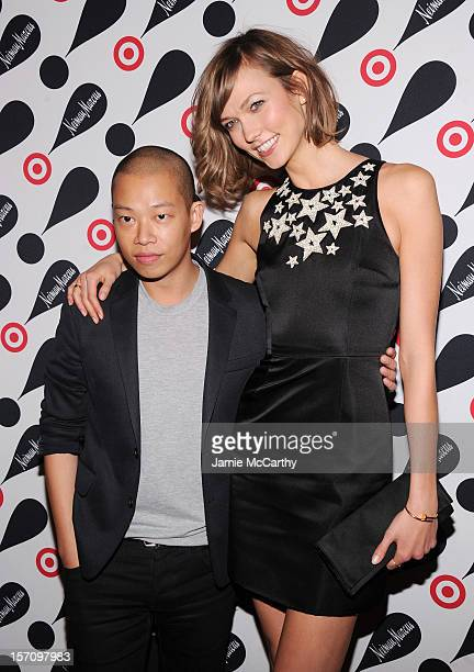 Fashion designer Jason Wu and model Karlie Kloss attend the Target + Neiman Marcus Holiday Collection launch event on November 28, 2012 in New York...