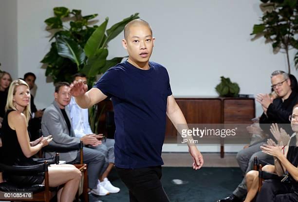 Fashion designer Jason Wu at the Jason Wu fashon show during New York Fashion Week at Spring Studios on September 9 2016 in New York City