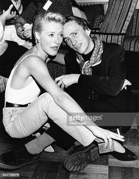Fashion designer Jasper Conran and actress Amanda Donohoe at the launch party of Elle magazine London September 8th 1988