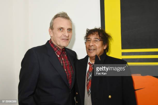 Fashion designer Jean Charles de Castelbajac and singer Laurent Voulzy attend 'I Want The Empire of Collaborations' Jean Charles de Castelbajac...