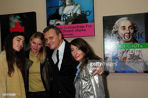 Fashion designer Jean Charles de Castelbajac and some guests attend the JCDC 'Tiranny Of Beauty'Expo at the BANK Gallery on September 10 2010 in...