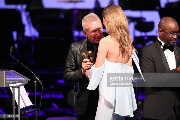 Fashion Designer Jean Paul Gaultier and Charlott Cordes 'World without AIDS' Award during the 23rd Opera Gala at Deutsche Oper Berlin on November 5...
