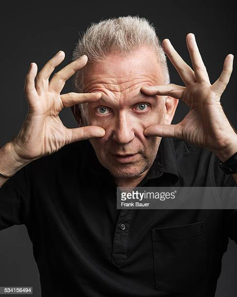 Fashion designer Jean Paul Gaultier is photographed for Sonntags Zeitung on September 17 2015 in Munich Germany