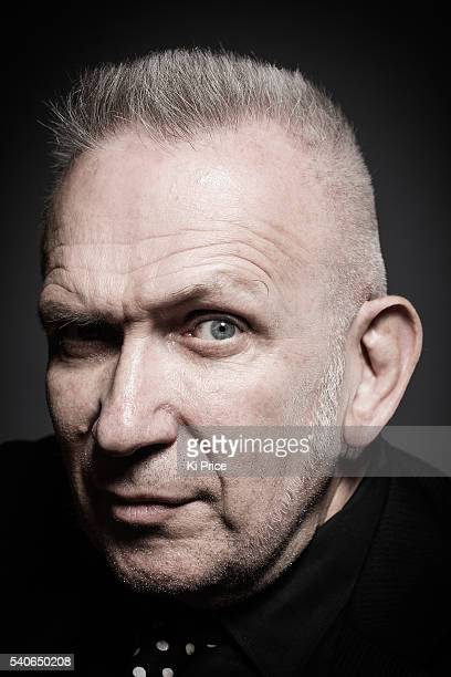 Fashion designer Jean Paul Gaultier is photographed for the Times on June 3 2016 in London England