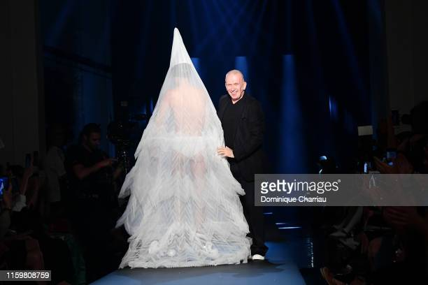 Fashion designer Jean Paul Gaultier walks the runway during the Jean Paul Gaultier Haute Couture Fall/Winter 2019 2020 show as part of Paris Fashion...