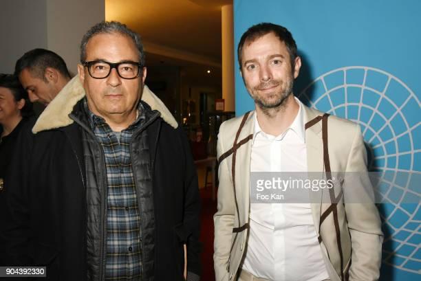 C fashion designer Jean Touitou and argentinian contemporary artist Leandro Erlich attend 'Sous le Ciel Carte Blanche A Leandro Erlich' Installation...