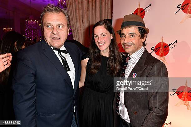 Fashion Designer JeanCharles de Castelbajac Ariel Wizman and his companion Osnath Assayag attend the Kenzo Takada's 50 Years of Life in Paris...