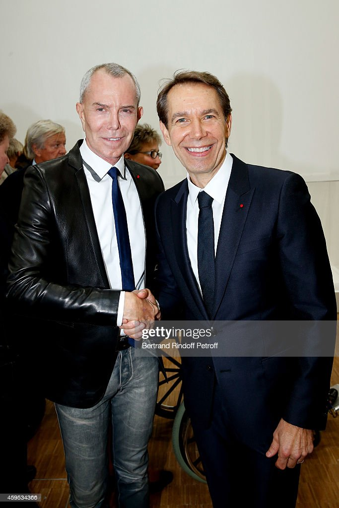 'Jeff Koons' Retrospective Exhibition : Opening Evening  At Beaubourg In Paris