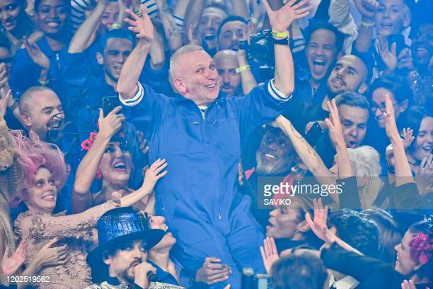 Fashion designer JeanPaul Gaultier during the JeanPaul Gaultier Haute Couture Spring/Summer 2020 fashion show as part of Paris Fashion Week at...