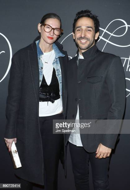 Fashion designer Jenna Lyons and actor Amir Arison attend the 'Phantom Thread' New York premiere at Harold Pratt House on December 11 2017 in New...