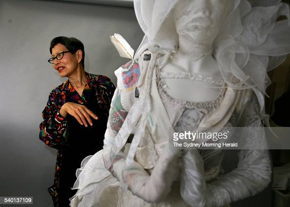 Fashion Designer Jenny Kee Pictured With Latest Design White Waratah News Photo Getty Images