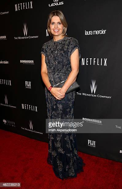 Fashion designer Jenny Packham attends The Weinstein Company & Netflix's 2014 Golden Globes After Party presented by Bombardier, FIJI Water, Lexus,...