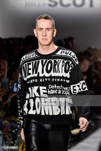 Fashion designer Jeremy Scott acknowledges the audience during the Jeremy Scott fashion show as part of New York Fashion Week on February 08 2019 in...