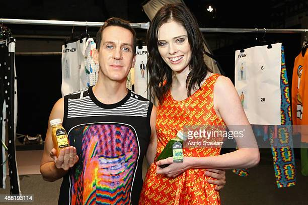 Fashion Designer Jeremy Scott and Fashion Model Coco Rocha with Kagome Greens At Jeremy Scott at Skylight at Moynihan Station on September 14 2015 in...