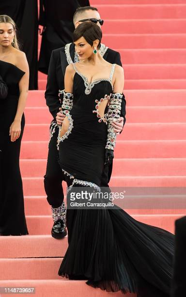 Fashion designer Jeremy Scott and model Bella Hadid are seen arriving to the 2019 Met Gala Celebrating Camp: Notes on Fashion at The Metropolitan...