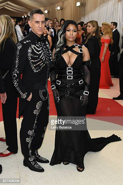 Fashion designer Jeremy Scott and rapper Nicki Minaj attend the 'Manus x Machina Fashion In An Age Of Technology' Costume Institute Gala at...