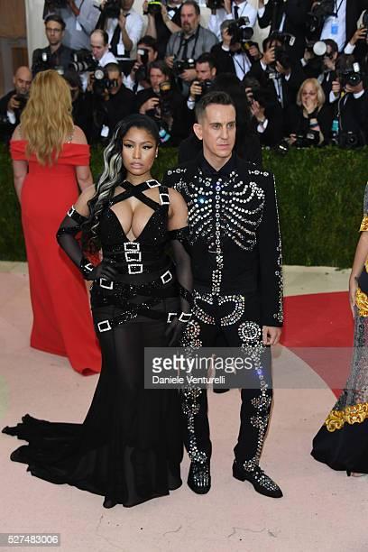 Fashion designer Jeremy Scott and rapper Nicki Minaj attend the 'Manus x Machina Fashion In An Age Of Technology' Costume Institute Gala at the...
