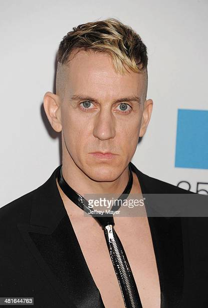 Fashion designer Jeremy Scott arrives at the MOCA 35th Anniversary Gala Celebration at The Geffen Contemporary at MOCA on March 29 2014 in Los...