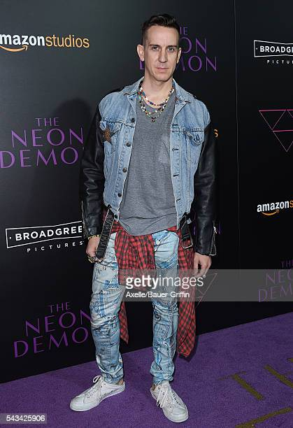 Fashion designer Jeremy Scott arrives at the premiere of Amazon's 'The Neon Demon' at ArcLight Cinemas Cinerama Dome on June 14, 2016 in Hollywood,...