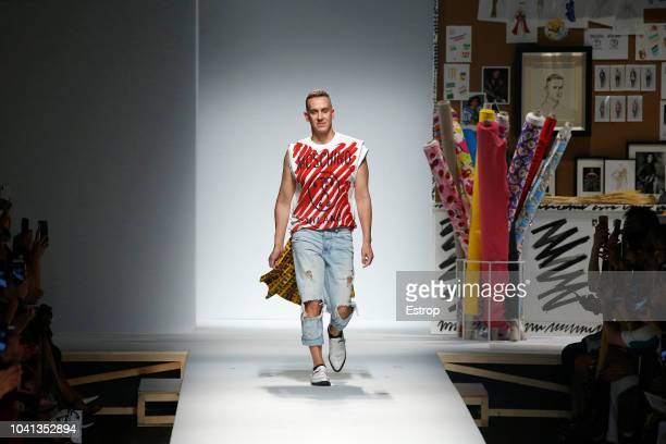 Fashion designer Jeremy Scott at the Moschino show during Milan Fashion Week Spring/Summer 2019 on September 20 2018 in Milan Italy