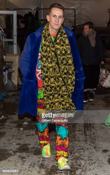 Fashion designer Jeremy Scott is seen leaving the Jeremy Scott collection during, New York Fashion Week: The Shows at Gallery 1, Skylight Clarkson Sq...
