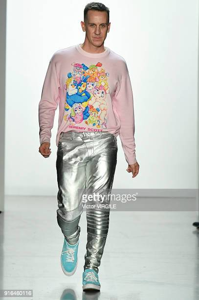 Fashion designer Jeremy Scott walks the runway at the Jeremy Scott Ready to Wear Fall/Winter 20182019 during New York Fashion Week at Gallery I at...
