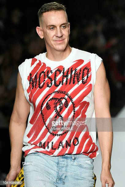 Fashion designer Jeremy Scott walks the runway at the Moschino Ready to Wear fashion show during Milan Fashion Week Spring/Summer 2019 on September...