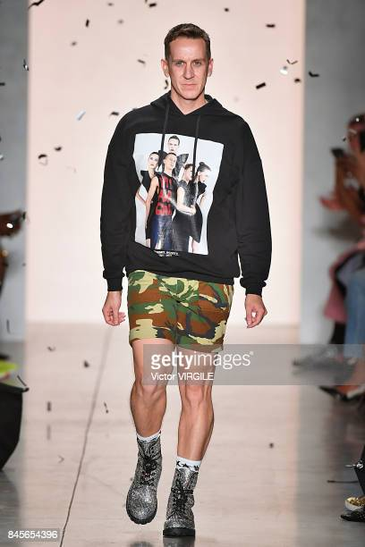 Fashion designer Jeremy Scott walks the runway during the Jeremy Scott Ready to Wear Spring/Summer 2018 fashion show during New York Fashion Week on...