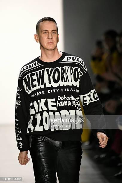 Fashion designer Jeremy Scott walks the runway for the Jeremy Scott Ready to Wear Fall/Winter 20192020 fashion show during New York Fashion Week on...