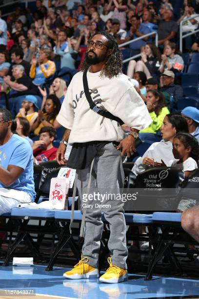 Fashion designer Jerry Lorenzo watches the game on July 21 2019 at the Wintrust Arena in Chicago Illinois NOTE TO USER User expressly acknowledges...