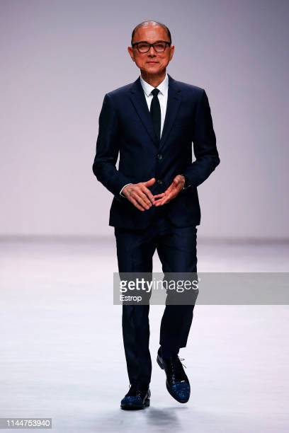 Fashion designer Jimmy Choo on the runway at the Atelier fashion show during the Valmont Barcelona Bridal Fashion Week at Fira Barcelona Montjuic on...