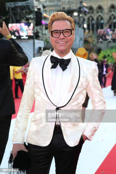 Fashion designer Joao Rolo during the Life Ball 2018 at City Hall on June 2 2018 in Vienna Austria The Life Ball an annual charity event raising...