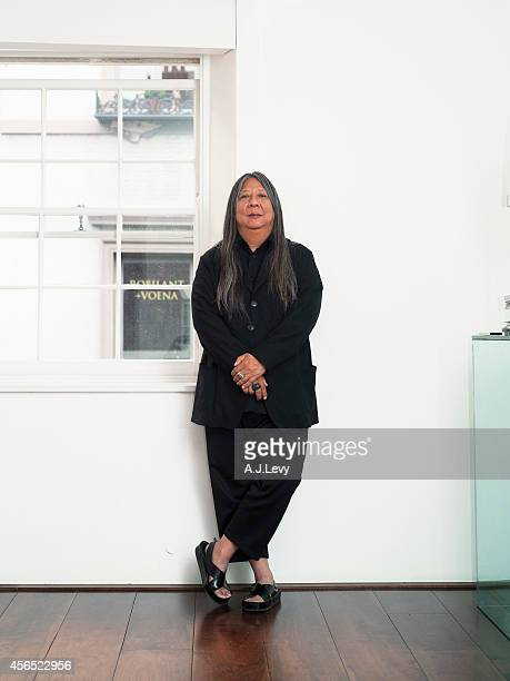 Fashion designer John Rocha is photographed for the Independent in London England