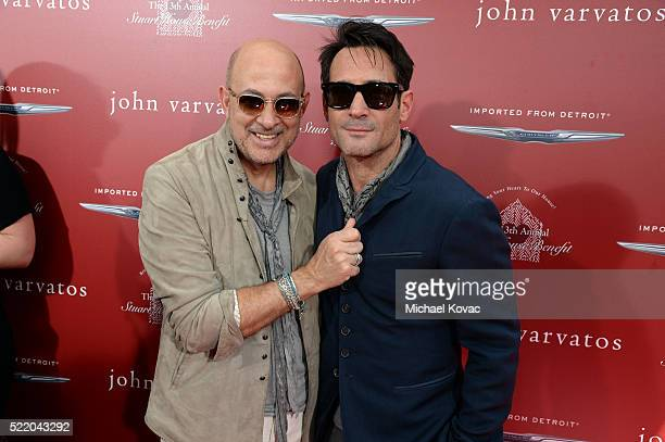 Fashion designer John Varvatos and actor Gregory Zarian attend the John Varvatos 13th Annual Stuart House benefit presented by Chrysler with Kids'...