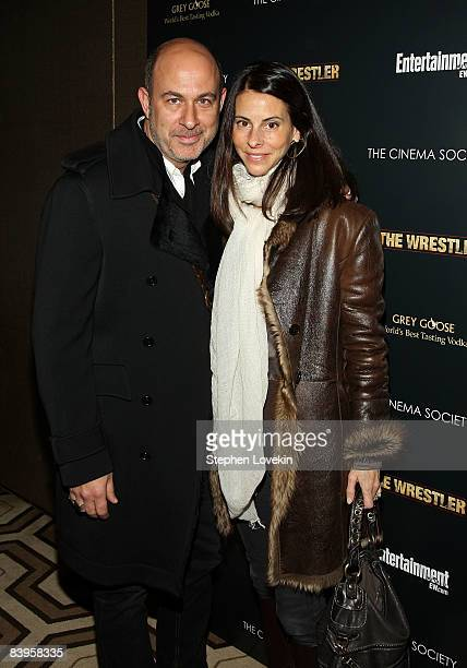 Fashion designer John Varvatos and wife Joyce Zybelberg attend a special screening of The Wrestler hosted by The Cinema Society and Entertainment...