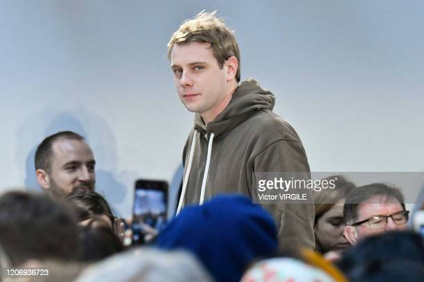 Fashion designer Jonathan Anderson walks the runway at the JW Anderson Ready to Wear Fall/Winter 20202021 fashion show during London Fashion Week on...