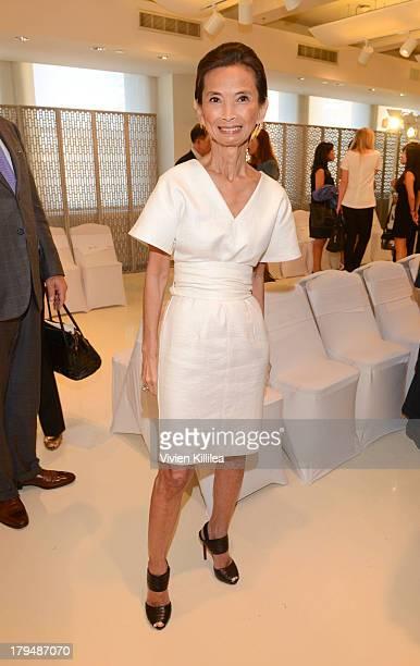 Fashion designer Josie Natori attends the Josie Natori show during MercedesBenz Fashion Week Spring 2014 on September 4 2013 in New York City