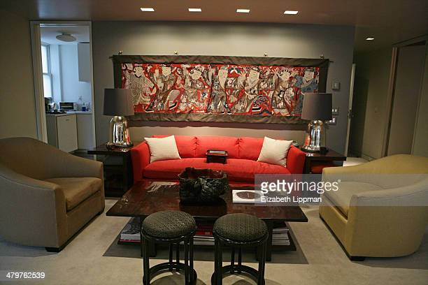 Fashion designer Josie Natori's home is photographed for New York Post on December 2, 2009 in New York City.
