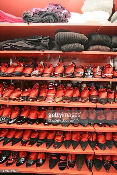 Fashion designer Josie Natori's home is photographed for New York Post on December 2, 2009 in New York City. Her closet: a full room with shelves of...