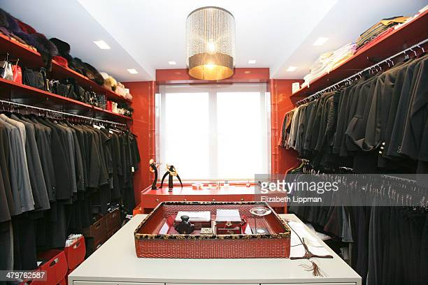 Fashion designer Josie Natori's home is photographed for New York Post on December 2, 2009 in New York City. Closet.